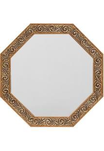 Espelho Oitavado- Dourado- 40X40Cm- Art Frameart Frame