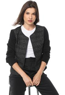 Blazer Queens Paris Tweed Preto