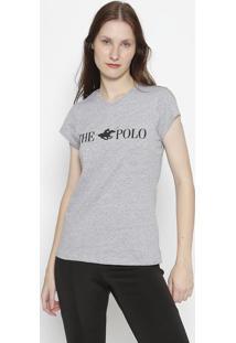 """Blusa """"The Polo""""- Cinza & Pretaclub Polo Collection"""