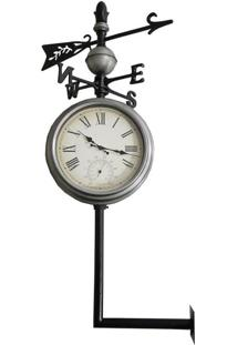 Relógio Estação Externo Rosa Ventos 119X54 Greenway