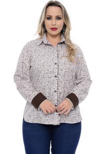 Camisa Social Plus Size Cashmere