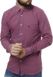 Camisa Manga Longa Urban City Masculina - Masculino-Vermelho