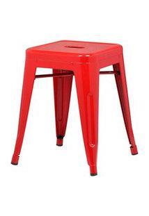 Banqueta Iron Baixa Cor Vermelha 46 Cm (Alt) - 37988 Vermelho
