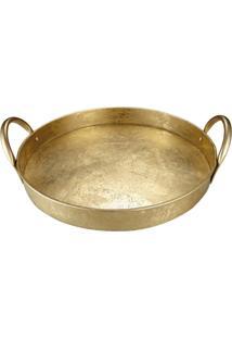 Bandeja Mart De Metal Dourada