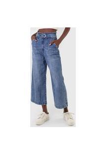 Calça Jeans Lez A Lez Pantacourt Estonada Azul