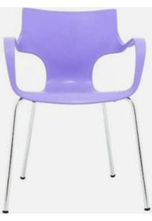 Cadeira Jim Base Fixa Cromada Cor Lilas - 22586 - Sun House