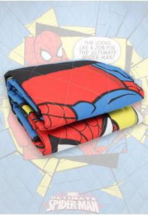 Colcha Infantil Lepper Kids Matelassê Spider-Man Ultimate Azul
