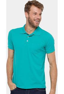 Camisa Polo Yellowl Piquet Básica Bolso Masculina - Masculino