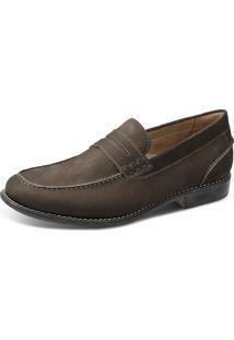 Sapato Loafer Sandro Moscoloni Brod Marrom Escuro