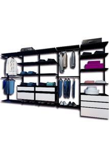 Closet Aramado Design Nwr331 - 3,30M - Preto
