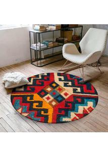 Tapete Love Decor Redondo Wevans Carpet 94Cm - Vermelho - Dafiti