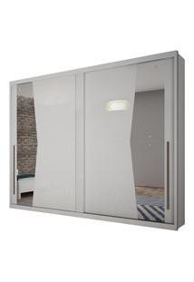 Guarda Roupa Novo Horizonte Geom C/Espelho 2 Portas Branco