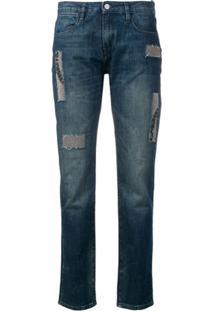 Brocken Bow Calça Jeans Com Aplicação E Patchwork - Azul