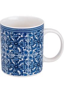 Caneca De Porcelana 330Ml Kamez - Bon Gourmet - Branco