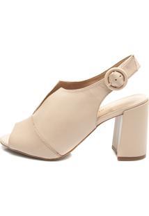 Sandália Ankle Boot Pattini Em Couro Nude