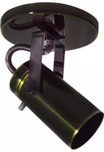 Spot De Sobrepor Em Alumínio Para 1 Lâmpada 60W 110V Preto Oxidado