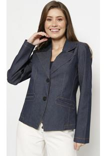 Blazer Com Pespontos - Azul Escuro- Cotton Colorscotton Colors Extra