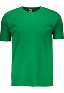 Camiseta Basica Masculina - Masculino-Verde