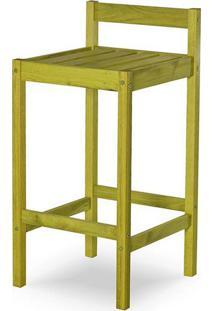 Banqueta Quadra Estrutura Amarelo 83Cm - 61598 - Sun House