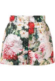 Dolce & Gabbana Short Floral - Verde