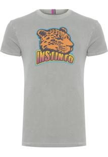 Camiseta Masculina Estampada Instinto - Verde