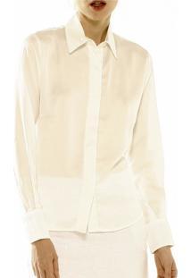 Camisa Unique Crepe Marfim
