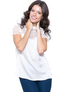648878e9b Blusa Branca Festa feminina | Gostei e agora?