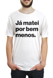 Camiseta Hunter Ja Matei Por Bem Menos Branca