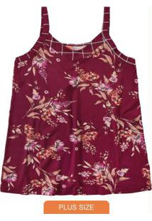 Blusa Vinho Floral Conforto