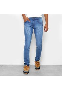 Calça Jeans Skinny Coffee Destroyed Masculina - Masculino-Jeans