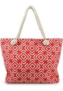 Bolsa Jacki Design De Praia - Unissex-Vermelho