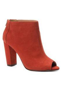 Ankle Boot Shoestock Nobuck Salto Grosso