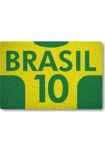 Tapete Capacho Brasil 10 - Amarelo