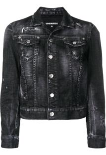 Dsquared2 Rock Skull Denim Jacket - Preto