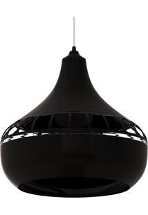 Luminária Pendente Combine 1430 Preta Spirit Bivolt