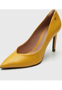 Scarpin Dumond Salto Fino Amarelo