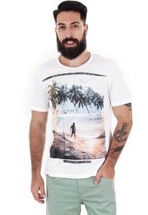 Camiseta Tropical Masculina Km - Marfim