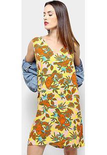 Vestidos Cantão Tucano - Feminino-Amarelo+Laranja