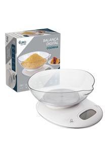 Balança Digital Euro Home Para Cozinha Branca
