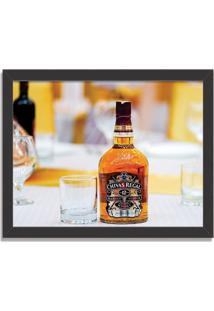Quadro Decorativo Whisky Chivas Regal Preto - Médio
