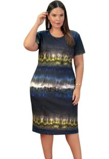 Vestido Plus Size Tie Dye