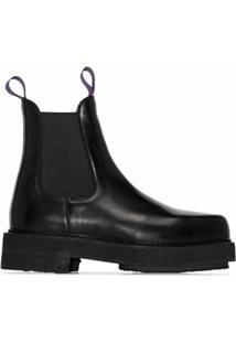 Eytys Ankle Boot Ortega De Couro - Preto