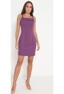 Vestido Texturizado Com Recortes- Roxo- Lança Perfumlança Perfume