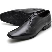 d51e3d030 Sapato Social Couro Reta Oposta Bico Quadrado Masculino - Masculino-Preto