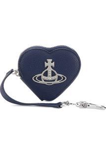 Vivienne Westwood Porta-Moedas Com Logo Orb E Placa De Coração - Azul