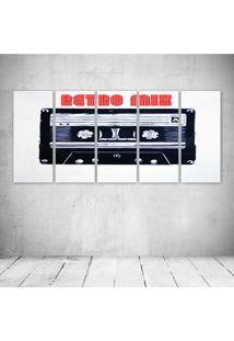 Quadro Decorativo - Retro Mix - Composto De 5 Quadros - Multicolorido - Dafiti