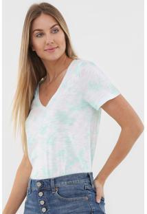 Blusa Gap Tie Dye Off-White/Verde