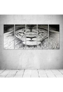 Quadro Decorativo - Lion King Pb - Composto De 5 Quadros