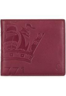 Gieves & Hawkes Carteira De Couro Com Logo Gravado - Vermelho
