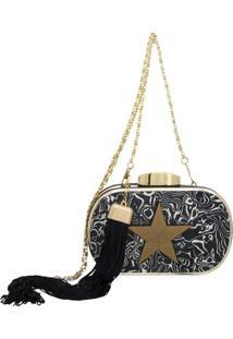 Bolsa Clutch Le Diamond Star Preta